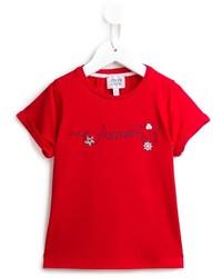rotes T-shirt von Armani Junior