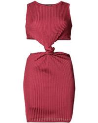 rotes Trägerkleid von Balmain