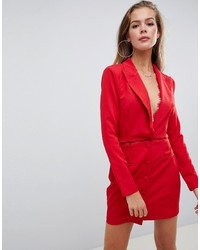 rotes Tuxedokleid von Missguided
