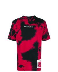 rotes und schwarzes T-Shirt mit einem Rundhalsausschnitt von Mauna Kea