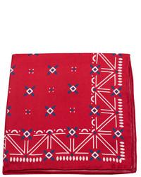 rotes und weißes bedrucktes Einstecktuch