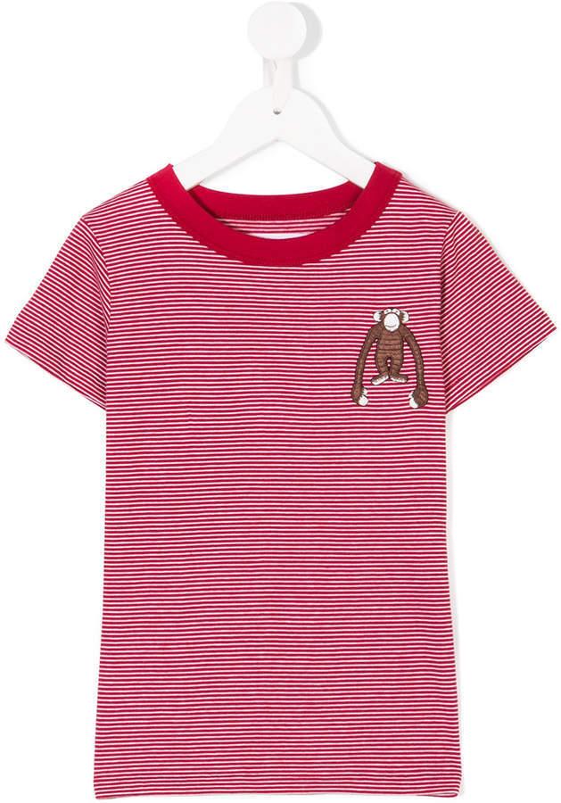 rotes und weißes horizontal gestreiftes T-shirt