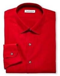 rotes vertikal gestreiftes Businesshemd