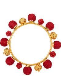rotes Perlen Armband von Dolce & Gabbana