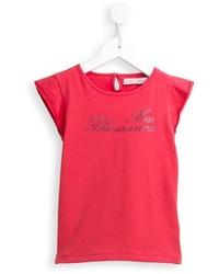 rotes verziertes T-shirt von Miss Blumarine