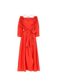 rotes Wickelkleid aus Seide von Three Graces