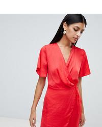 rotes Wickelkleid von Missguided