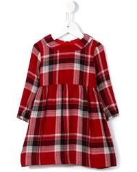 rotes Wollkleid mit Schottenmuster von Il Gufo