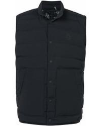 schwarze Ärmellose Jacke