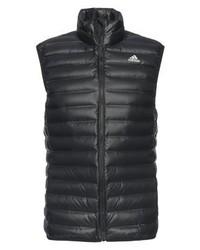 schwarze ärmellose Jacke von adidas
