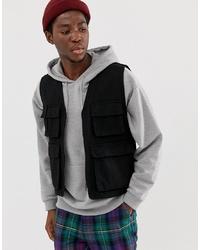 schwarze ärmellose Jacke von ASOS DESIGN