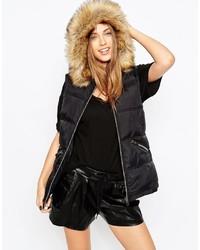 schwarze ärmellose Jacke von Asos