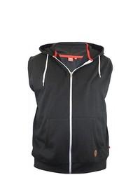 schwarze ärmellose Jacke von Duke Clothing