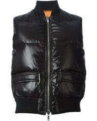 schwarze ärmellose Jacke von Givenchy