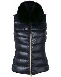 schwarze ärmellose Jacke von Herno