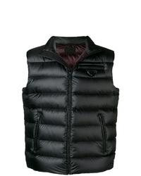 schwarze ärmellose Jacke von Prada
