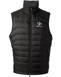 schwarze ärmellose Jacke von Ralph Lauren