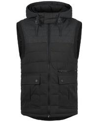 schwarze ärmellose Jacke von Redefined Rebel