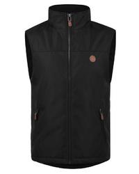 schwarze ärmellose Jacke von Solid