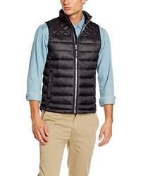 schwarze ärmellose Jacke von Tom Tailor