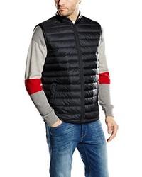 schwarze ärmellose Jacke von Tommy Hilfiger