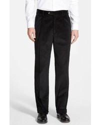 schwarze Anzughose aus Cord