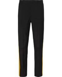 schwarze Anzughose aus Seide