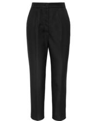 schwarze Anzughose aus Seide von Dolce & Gabbana