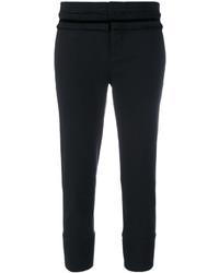 schwarze Anzughose mit Rüschen von Dsquared2