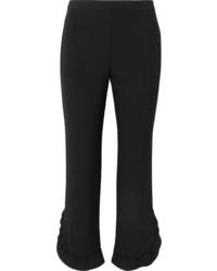 schwarze Anzughose mit Rüschen von Prada