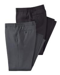 schwarze Anzughose von MEN PLUS BY HAPPY SIZE