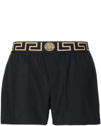 schwarze Badeshorts von Versace