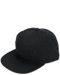 schwarze Baseballkappe von DSQUARED2