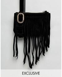 schwarze Bauchtasche von Reclaimed Vintage