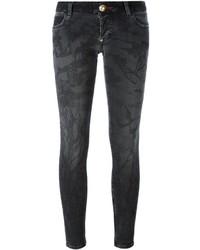 schwarze enge Jeans aus Baumwolle von Philipp Plein
