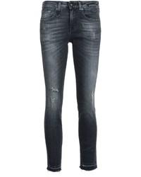 schwarze enge Jeans aus Baumwolle von R 13