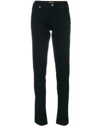 schwarze Baumwolle enge Jeans von Versace