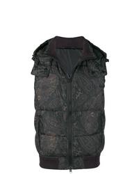 schwarze bedruckte ärmellose Jacke von Etro