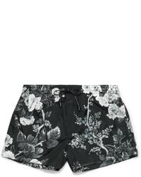 schwarze bedruckte Badeshorts von Dolce & Gabbana