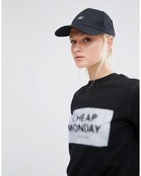 schwarze bedruckte Baseballkappe von Cheap Monday