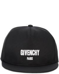schwarze bedruckte Baseballkappe von Givenchy