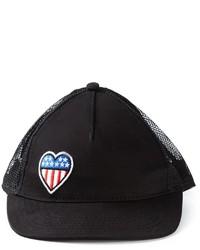 schwarze bedruckte Baseballkappe von Love Moschino