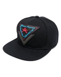 schwarze bedruckte Baseballkappe von Moschino