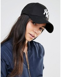schwarze bedruckte Baseballkappe von New Era