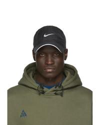 schwarze bedruckte Baseballkappe von Nike
