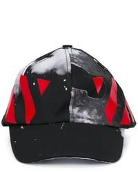 schwarze bedruckte Baseballkappe von Off-White