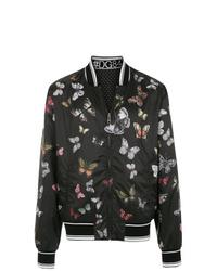 schwarze bedruckte Bomberjacke von Dolce & Gabbana