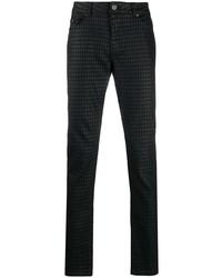 schwarze bedruckte enge Jeans von Karl Lagerfeld