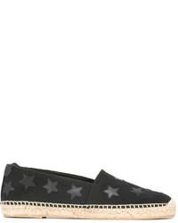 schwarze bedruckte Espadrilles von Saint Laurent