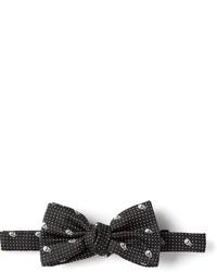 schwarze bedruckte Fliege von Alexander McQueen
